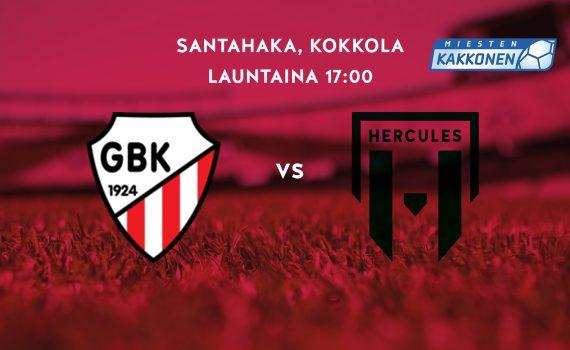 GBK-Hercules Santahaan tekonurmella 19.5. klo 17:00 alkaen