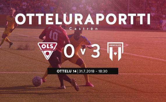 OLS-Hercules-derby päättyi Herculesin 0-3-voittoon.